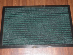 NON SLIP DOORMATS 50X80CM RUBBER BACKING GOOD QUALITY ALL COLOURS GREEN BARGAINS